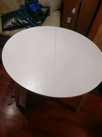 round white wooden table with two chairs Mississauga, L4Z 4K1