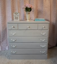 White & Grey Chest of Drawers