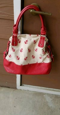 pink and white floral leather hobo bag Sandy Springs, 30350