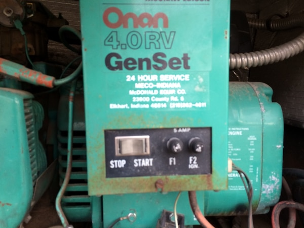 It's a 4.0 generator out of 1982 Chevy Shasta motor home.It only has 64 running hours like new,we take $800.00 7f4e9c80-08c2-42b8-8cc5-bf1276f590f6