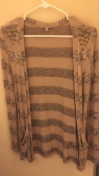 Beige cardigan, striped, small Edmonton, T5Y 1M3
