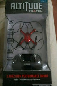 black and red quadcopter drone in box Laurel, 20708