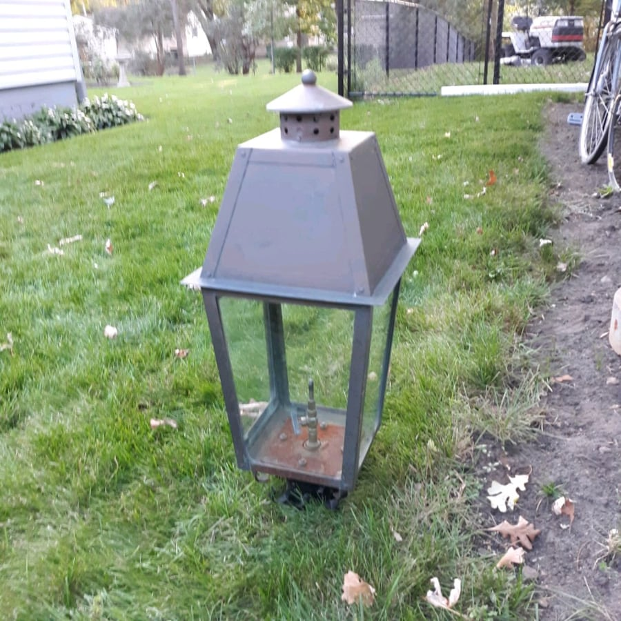 Gas lamp, copper, Iron Stone brand