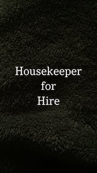 housekeeper available to work Willow Springs