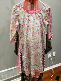 women's pink and blue floral dress Markham, L3S 2T3