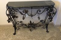 Marble table, grape leaves, hand made table, very heavy ($275) obo Bakersfield, 93312