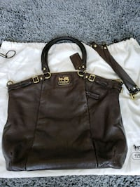 Authentic Coach satchel with dust bag and straps Vancouver, V6E 4R2