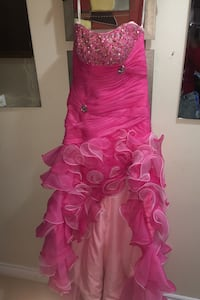 Pink formal dress beautiful and detailed....worn once..best offer
