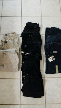 four black, white, and brown cargo shorts Corpus Christi, 78418