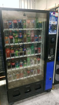 Soda vending machine with credit card reader  30 km