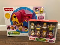 New Fisher Price Little People Disney Princess Snow White's Cottage +