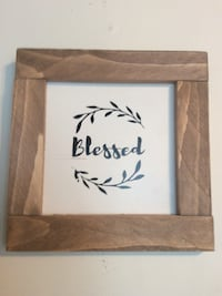 Blessed signage with square brown wooden photo frame Kelowna, V1X 2K1