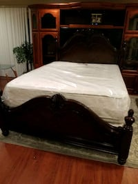 LIKE NEW QUEEN BED WITH FREE BRAND NEW MATTRESS  Gaithersburg, 20879
