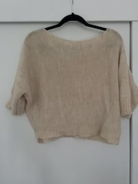 women's gray scoop-neck sweater