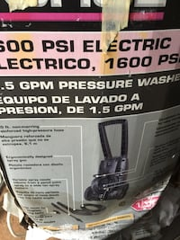 600 PSI electric pressure washer b ox West Pennsboro, 17241