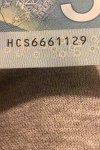 5 Dollar bill with 666 in serial code. $50 or best Offer  Mississauga, L5M 1W7
