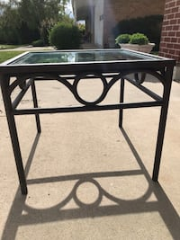 Welded heavy metal table with glass top Holladay, 84117