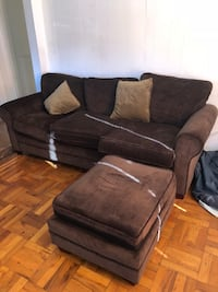 brown fabric 3-seat sofa New York, 10466