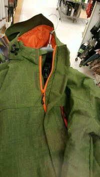 green and orange zip-up hoodie Washington, 20001