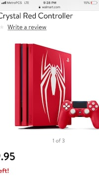 red Sony PS4 Slim with controller 280 mi