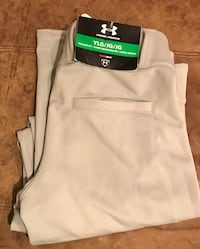 Gray baseball pants (Under Armour YLg)$15. Bryn Mawr, 19010