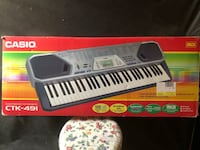 Black and white electronic keyboard box