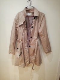 brun button-up trench coat