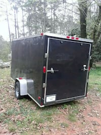 black and red utility trailer Douglasville, 30135