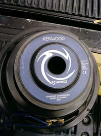 "2 12"" Kenwood subwoofers"
