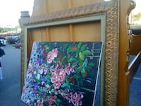 Textured floral painting on canvas signed art work Norfolk, 23503