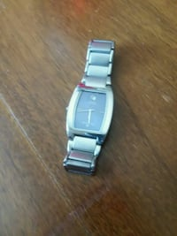 square silver analog watch with link bracelet Phoenix, 85007