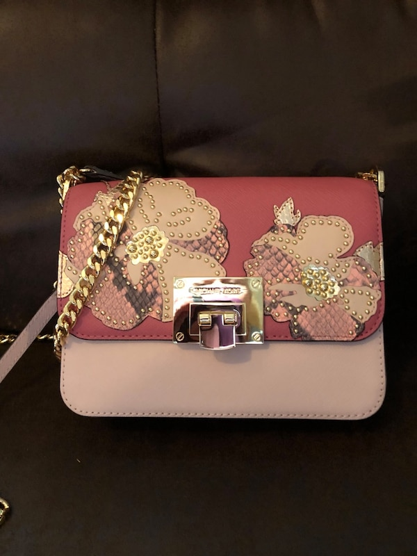 c9009c12b1d5 Used Michael Kors unique pink/floral crossbody. New with tags. $125 for sale  in Fort Worth - letgo
