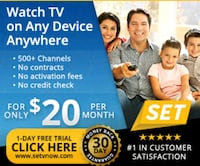 500 Cable Channels 20.00 A Month