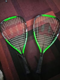 two black-and-green racquet racket Frisco, 75034