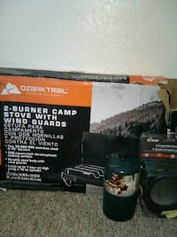 Camp 2 burner stove with wind shield Decatur, 30032