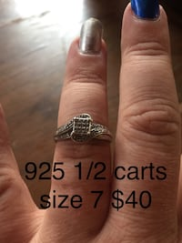 silver-colored diamond ring Dayton, 45432