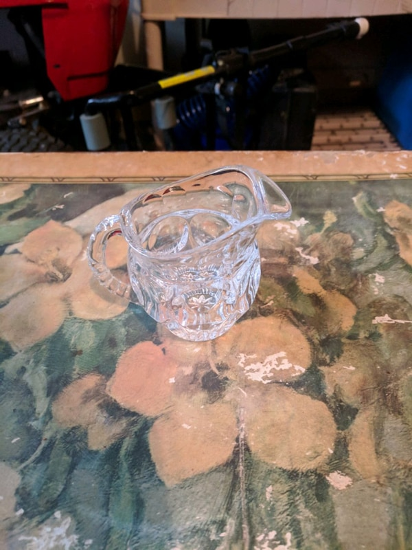 Antique Glass creamer pitcher d02d63b8-b3ee-4f7b-a571-969a93627bd2