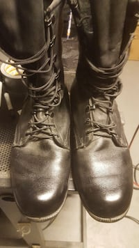 pair of black leather combat boots Ashburn, 20147