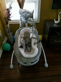 baby's gray and white cradle and swing Brampton, L6V 4S1