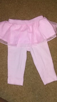 girl's pink skirt with pants