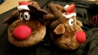 plush Rudolph slippers  size youth sm/med Commerce, 30529