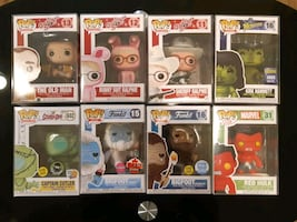 FUNKO POP HARD TO FIND EXCLUSIVES! MINT IN PROTECTORS!