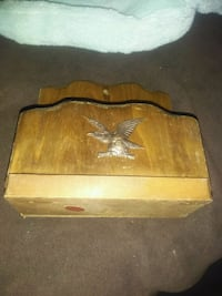 Vintage 1960s Wood Mail Holder Napkin Holder Eagle Johnstown, 15905