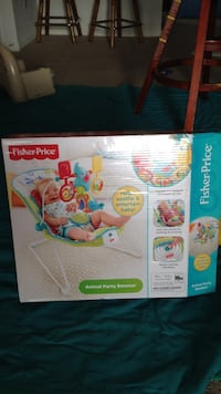 fisher price animal party bouncer box