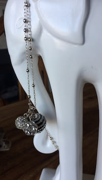 silver and black beaded chain necklace Nanaimo, V9V 1J8