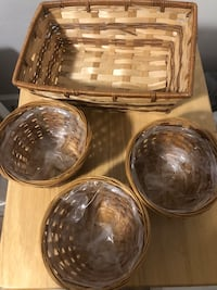 Two brown and black wicker baskets Rockville, 20852