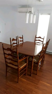 brown wooden dining table set and buffet Brossard