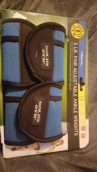 5 lb GOLDS GYM adjustable ankle weights Center Point, 35215