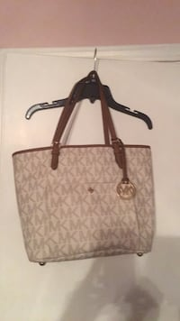 Brown and cream Michael Kors new purse Fort Smith, 72904