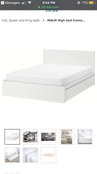 White Full size storage bed with 4 drawers  Baltimore, 21230